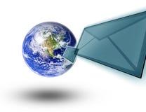 地球信包邮件行星 免版税图库摄影