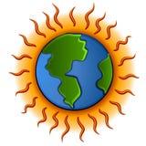 地球全球行星温暖 皇族释放例证