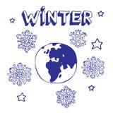 地球冬天 免版税库存图片