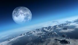 地球冰冷的海洋鸟瞰图 库存照片