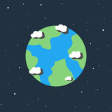 地球动画片象 库存照片