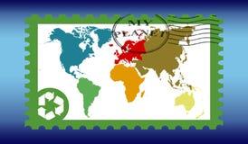 地球印花税 库存图片