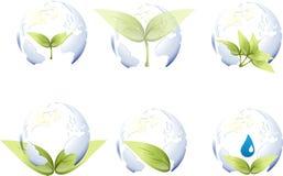 地球叶子世界 库存图片
