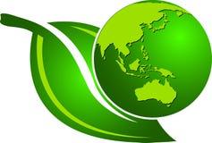 地球叶子 库存例证
