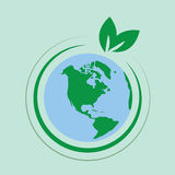 地球叶子 免版税库存图片