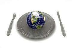 地球吃 免版税图库摄影