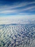 地球和云彩鸟瞰图  免版税库存照片