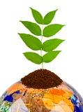地球和工厂 免版税图库摄影