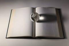 地球和开放书 库存照片