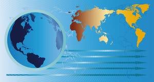 地球和映射 免版税库存照片