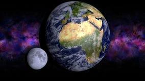 地球和月亮 免版税库存照片