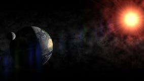 地球和月亮 图库摄影
