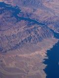 地球和河俯视图  免版税库存照片