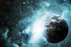 地球和空间 免版税库存照片