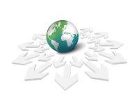 地球和箭头 免版税库存照片