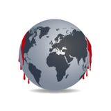 地球和血液 免版税库存图片