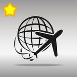 地球和飞机旅行 免版税图库摄影