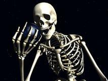 地球和骨头2 免版税库存照片