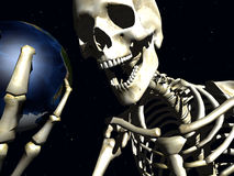 地球和骨头4 库存照片