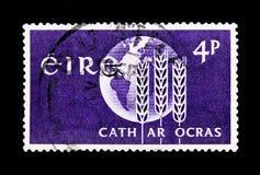 地球和麦子,从饥饿, serie的解放,大约1963年 免版税图库摄影