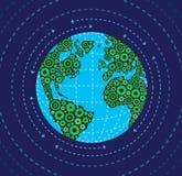地球和齿轮 免版税库存图片
