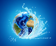 地球和水 库存照片