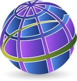地球商标 库存例证