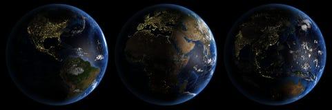 地球喂行星res 免版税图库摄影