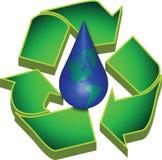 地球回收水 库存例证