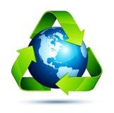 地球回收 免版税图库摄影