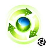 地球图标回收 图库摄影