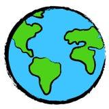 地球图标行星 免版税图库摄影