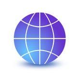 地球图标wireframe 图库摄影
