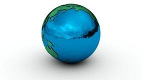 地球在白色的地球镀铬物 皇族释放例证