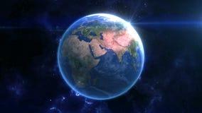 地球在空间显露 股票视频