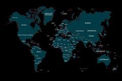 地球地图模板 库存例证