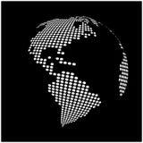 地球地球世界地图-提取被加点的传染媒介背景 免版税库存图片
