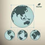 地球地球传染媒介设计元素 皇族释放例证
