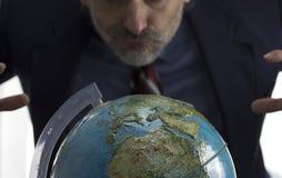 地球地球和贪婪的人 图库摄影