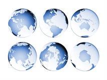 地球地球查出的映射行星 库存图片