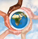 地球地球的标志 免版税库存照片