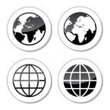 地球地球象作为标签 免版税库存图片