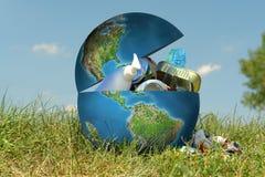 地球垃圾 免版税库存图片