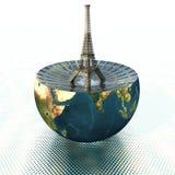 地球埃菲尔半塔 库存照片