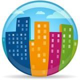 地球城市 免版税库存图片