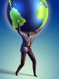 地球增强 免版税库存照片
