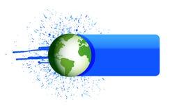 地球墨水横幅 库存照片