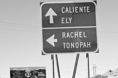 地球外的高速公路,内华达 免版税库存照片