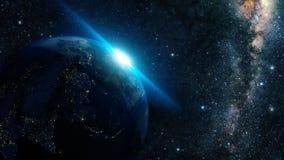 地球夜 库存照片