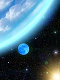 地球天空星形 免版税库存照片